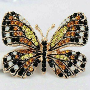Jewelry - Sparkling MONARCH Butterfly Rhinestone Brooch